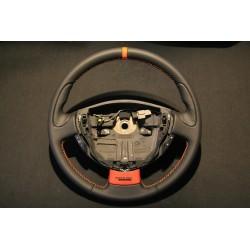 Volant Clio II RS cuir Nappa lisse, cuir perforé et centreur