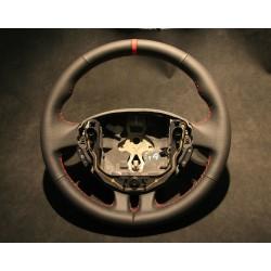 VolanClio III RS cuir Nappa lisse perforé sur parties latérales et centreur